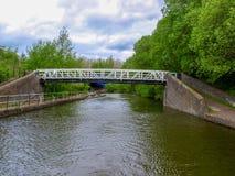 Black and white steel bridge Royalty Free Stock Image