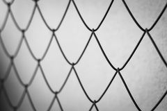 black and white steel net Royalty Free Stock Images
