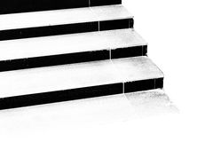 Black and white steps of stairs Royalty Free Stock Photography