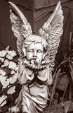 Black and White Stone Angel Stock Image