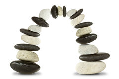 Black and white stone arch. Over a white background Stock Photography