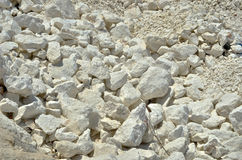 Black and white stone, limestone at stone quarry 3 Royalty Free Stock Photography