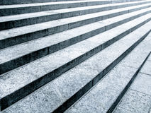 Black and white stone steps. In parallel Royalty Free Stock Image