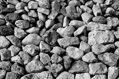 Black and White stone wall Royalty Free Stock Image