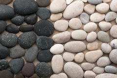 Black and white stones Royalty Free Stock Photos