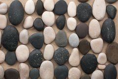 Black and white stones Royalty Free Stock Images