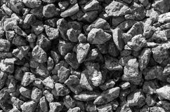 Black and white stones gravel texture macro Stock Photo