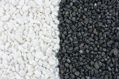 Black and white stones texture Stock Image