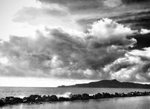 Black And White stormy clouds Royalty Free Stock Image