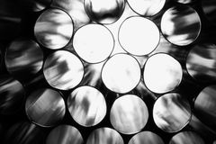 Black-and-white straws royalty free stock photography