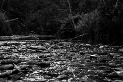 Black and white stream Stock Image