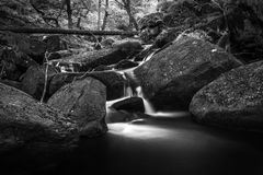 Black and white stream. In the Peak District UK Royalty Free Stock Image