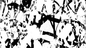 Black and white street art. Can be used as background or for printing or for other possibilities stock illustration