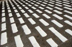 Black and white  street asphalt background, India Stock Photography