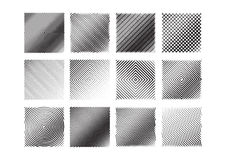 12 black and white stripe patterns set. Stock Photo