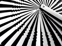 Black and white striped background. Fan texture background Stock Photography