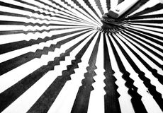Black and white striped background Royalty Free Stock Image