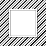 Black and White Striped Background with Frame Royalty Free Stock Photography