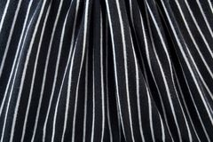 Black & White striped fabric Stock Photography