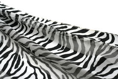 Black-and-white striped fabric. Piece of a black-and-white striped fabric Royalty Free Stock Image