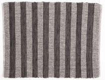 Black and white striped fabric background Royalty Free Stock Images