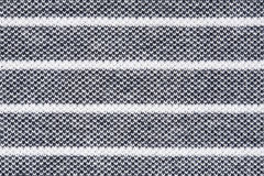 Black and white striped fabric texture Stock Image