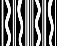 Black and white striped graphic design Stock Image
