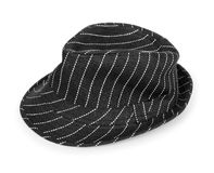 Black and white striped hat Stock Image