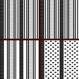 Black and white striped heart patterns Royalty Free Stock Photo