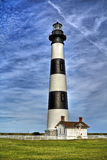 Black and white striped lighthouse Royalty Free Stock Photography