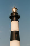 Black and white striped lighthouse at Bodie Island on the outer Stock Photo