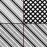 Black and white striped patterns royalty free illustration