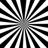 Black and white striped ray burst style background, optical Royalty Free Stock Images