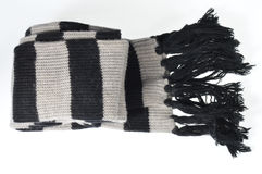 Black and white striped scarf Royalty Free Stock Photography