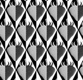 Black and white striped strawberry on diamonds Stock Image