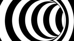 Black and white striped tunnel, psychedelic abstraction, 3d rendering computer generation backgorund. Black and white striped tunnel, psychedelic abstraction, 3d Stock Photo