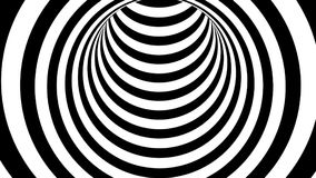 Black and white striped tunnel, psychedelic abstraction, 3d rendering computer generation backgorund. Black and white striped tunnel, psychedelic abstraction, 3d Vector Illustration