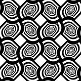 Black and white striped twisted grid with offset Stock Images