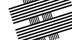 Black and white stripes. Abstraction, white black stripes. Geometric shapes of black and white lines forming a tunnel.  stock video