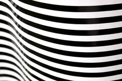 Black and white stripes curving 1 Stock Images