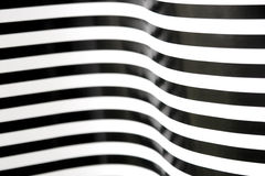 Black and white stripes curving 2 Royalty Free Stock Image