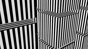 Black and white stripes formation cubes stock footage