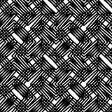 Black and white stripes geometric seamless pattern, vector backg Royalty Free Stock Photos