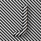 Black and white stripes Letter J 3D. Render illustration royalty free illustration
