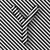 Black and white stripes Letter Y 3D. Render illustration stock illustration