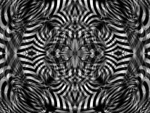 Black-white stripes mandala. Abstract mandala in black and white color Stock Photography