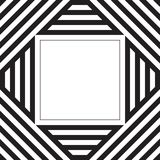 Black and white stripes pattern background with text box design Royalty Free Stock Photos