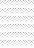 Black & White Stripes pattern royalty free illustration