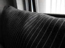 Black and white stripes pillow cover close-up Royalty Free Stock Photography