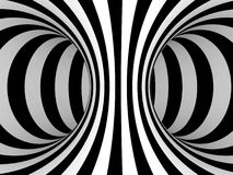 Black and White Stripes Projection on Torus. Stock Photos